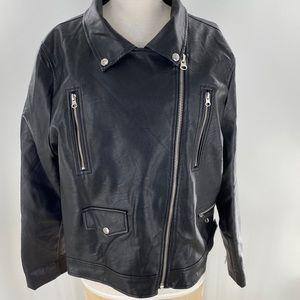 Sky Faux Leather jacket woman's plus size 3X